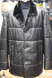 47b41c20f07 Мужские кожаные пуховики с мехом - купить в Москве